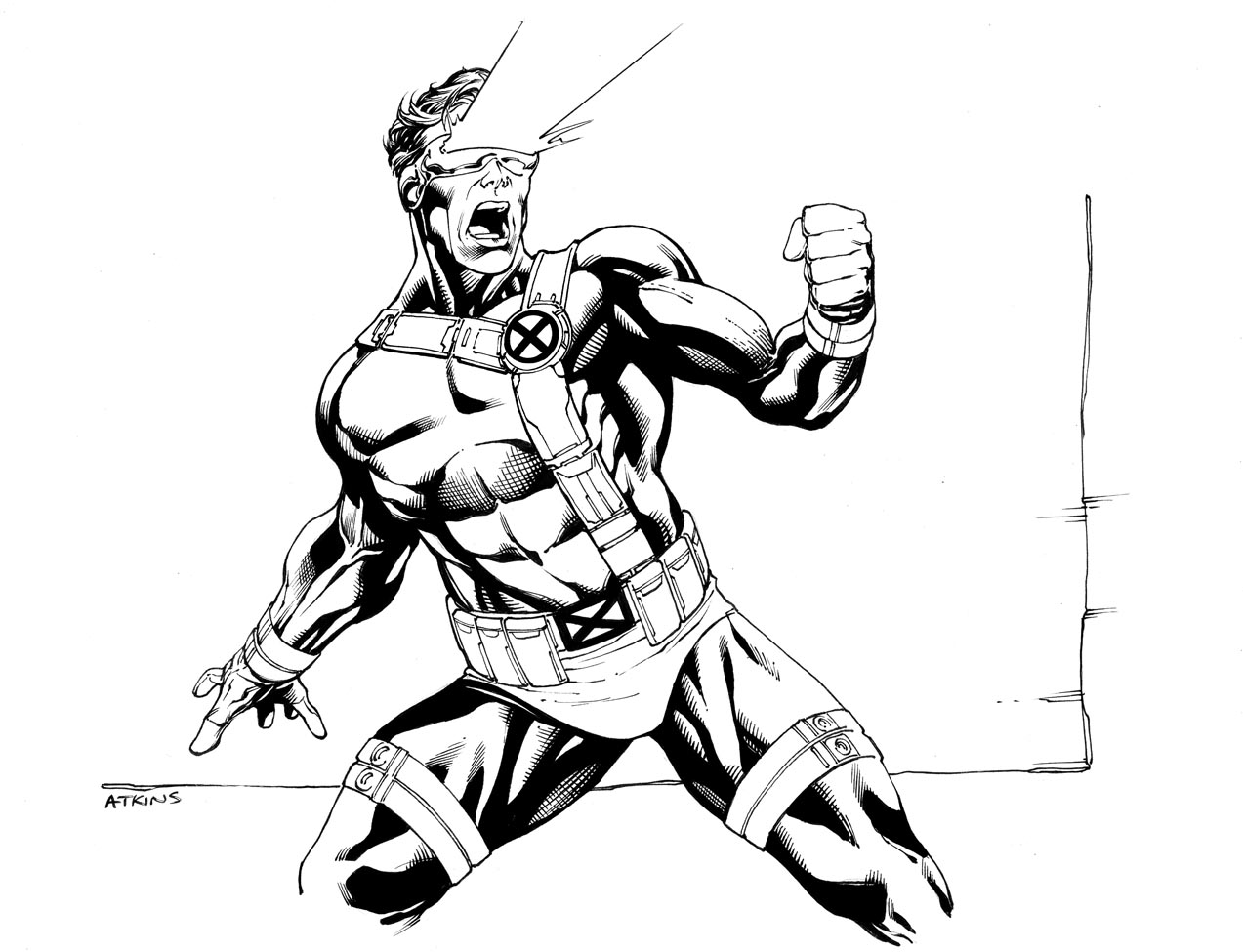 Free coloring pages x-men - Cyclops Coloring Pages X Men